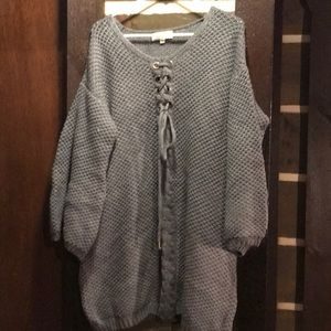Sweater tunic/dress- oversized will fit large